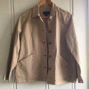 J.Crew | Khaki Chino Swing Jacket - Size L